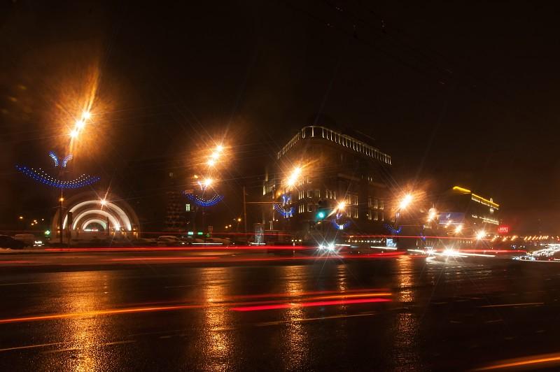 Красные ворота, метро, москва, вечер, сталинские высотки