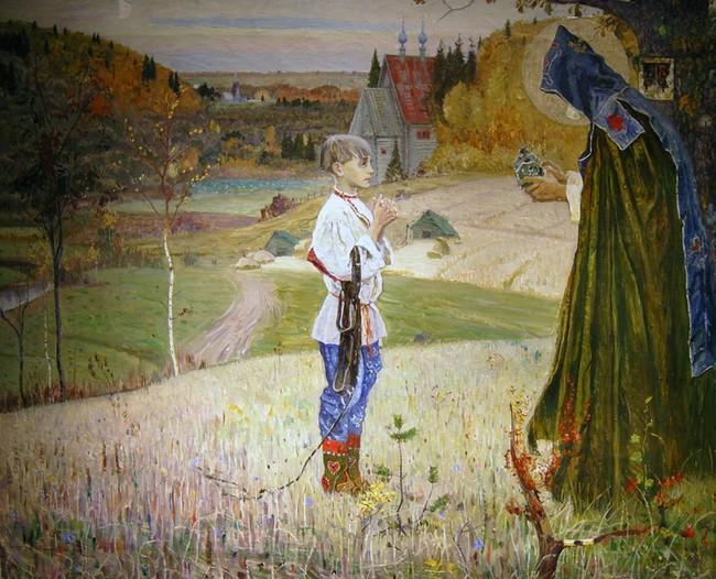 Михаил Николаевич Нестеров (1862-1942). Видение отроку Варфоломею