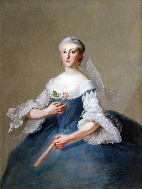 Георг Каспар Преннер - Портрет Марии Артемьевны Воронцовой (урожденной Волынской) Первая половина 1750-х гг.