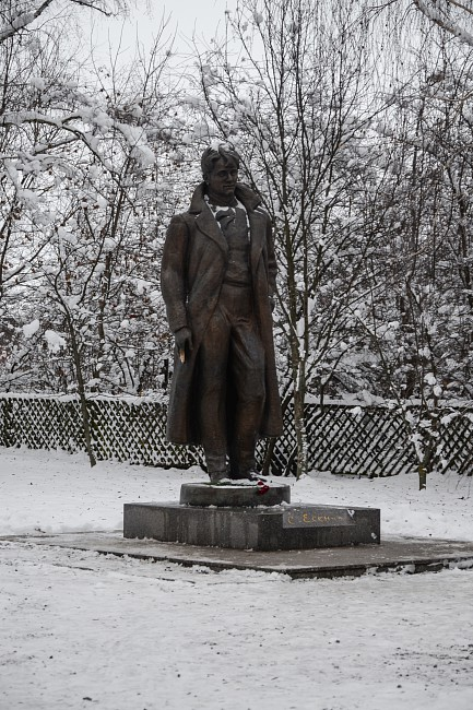 Памятник поэту возле дома